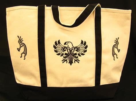 Embroidered Canvas Tote Bag personalized tote bags custom tote bags embroidered