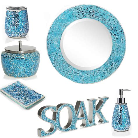mosaic bathroom set mosaic bathroom accessories sets aqua sparkle mosaic