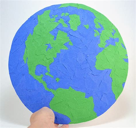 How To Make Paper Earth - earth day recycled paper project spark