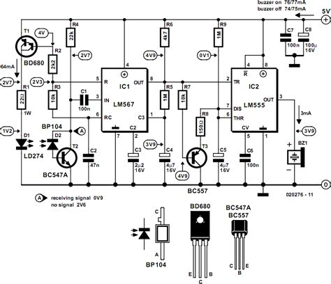 laser light detector circuit infrared circuit page 7 light laser led circuits gr