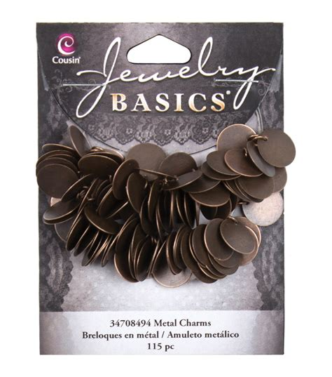 jewelry basics jewelry basics coin charms 115 pkg copper at joann