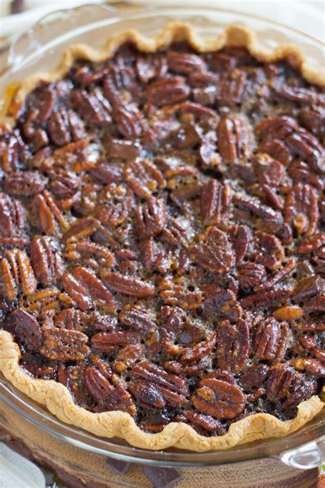 dark chocolate molasses pecan pie