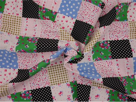 Patchwork Material Uk - printed cotton poplin fabric patchwork