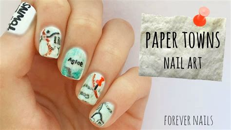How To Make Paper Nails - paper towns nail