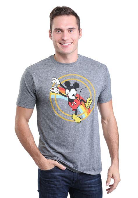Nannercat Rainbows T Shirt For Mens mickey mouse retro rainbow jump s