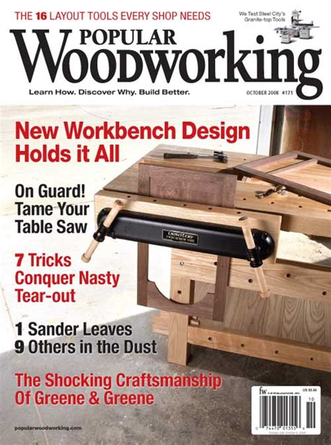 best woodworking magazines october 2008 171 popular woodworking magazine