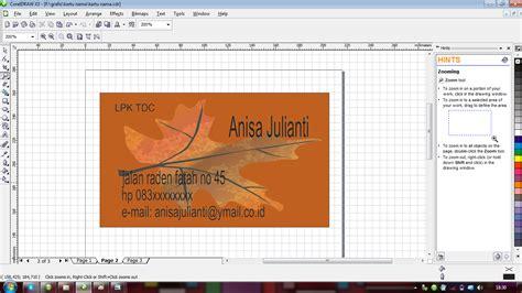 cara membuat kartu nama lewat word langkah langkah membuat kartu nama coreldraw adanih com