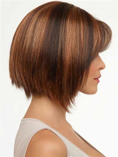 long layered cut with slant bang angled bobs with bangs short hairstyles 2017 2018