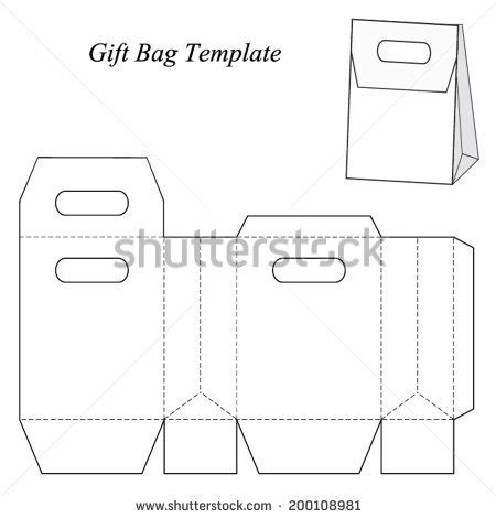 Shopping Bag Template Vector Illustration Stock Vector 198608156 Shutterstock Gift Bag Template