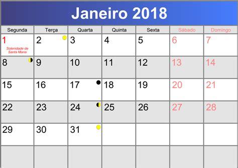Calendario Octubre 2018 Calend 225 Janeiro 2018 Printable Pdf Abc Calendario Pt