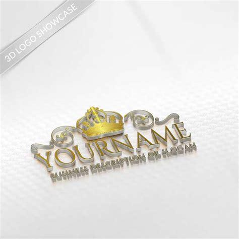 logo maker gold crown logo design