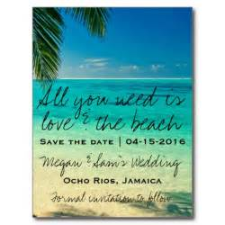 jamaica destination wedding save the date postcard wedding save and beaches