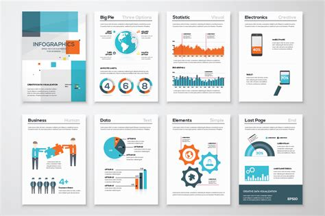 infographic brochure template infographic brochure elements 14 illustrations on