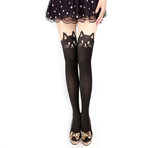 cute stockings new sexy stockings women cute cat tail leggings female