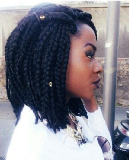 medium size short briads medium sized box braids short hairstyle 2013