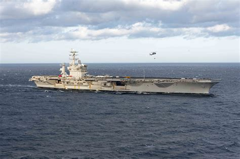 portaerei eisenhower carrier eisenhower deploys for europe middle east tomorrow