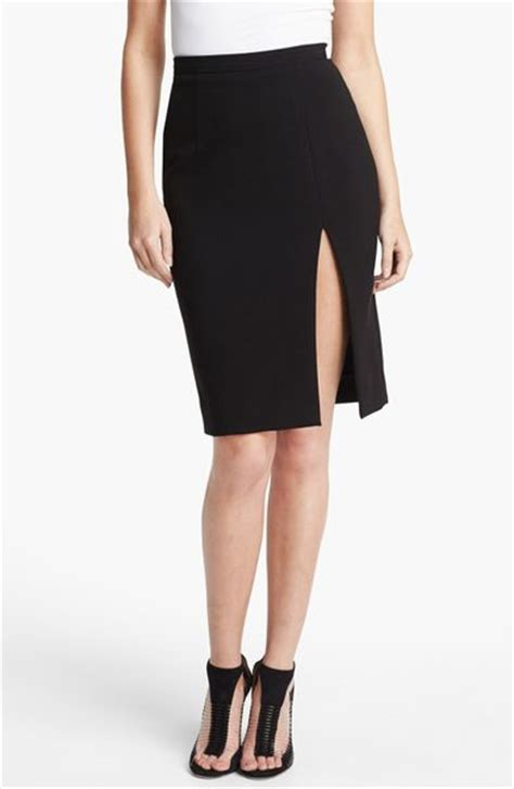 Slit L With by L Agence High Slit Pencil Skirt In Black Lyst