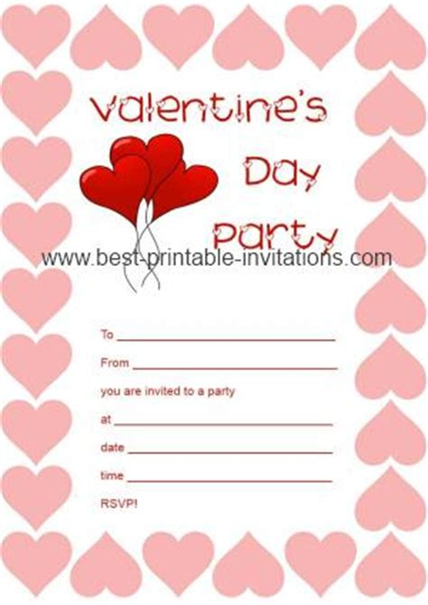 free printable valentine birthday invitations printable valentine party invitations