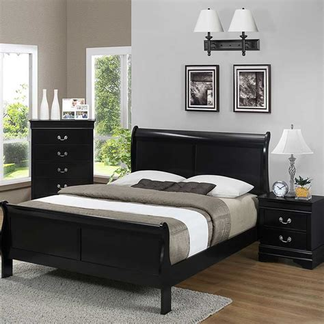 bedroom sets black black bedroom set the furniture shack discount