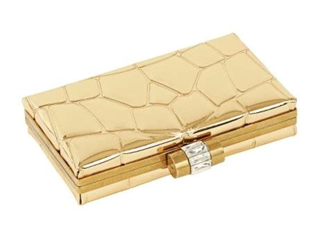 Clutch Croco Gold ysl croc minaudiere gold mirror