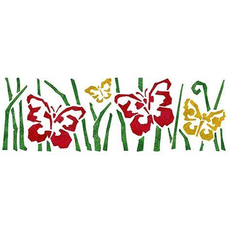 dekor schablone tolle schmetterlingsschablone im xl format vier