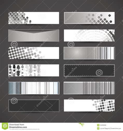 header design black and white 12 blank banner designs royalty free stock image image