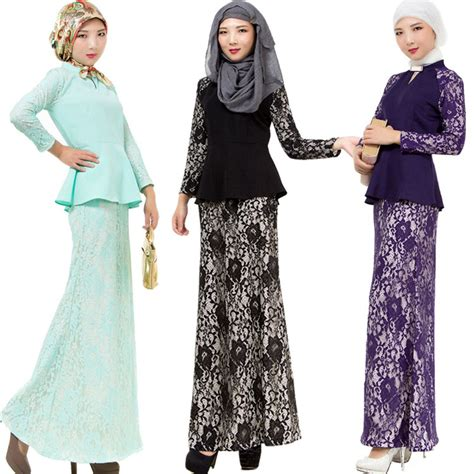 Dress Muslim Elvisa Set Islamic Dresses Set Tops Skirt Muslimah Dress