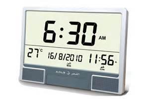 wall clock digital al fajr large azan digital wall clock with multiple azans