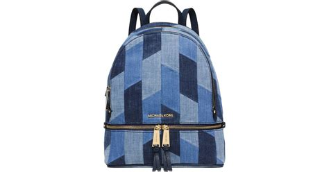 Patchwork Backpack - michael kors rhea medium mosaic patchwork denim backpack
