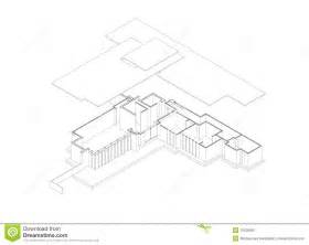 Frank Lloyd Wright House Plans jacobs house exploded isometric drawing stock image