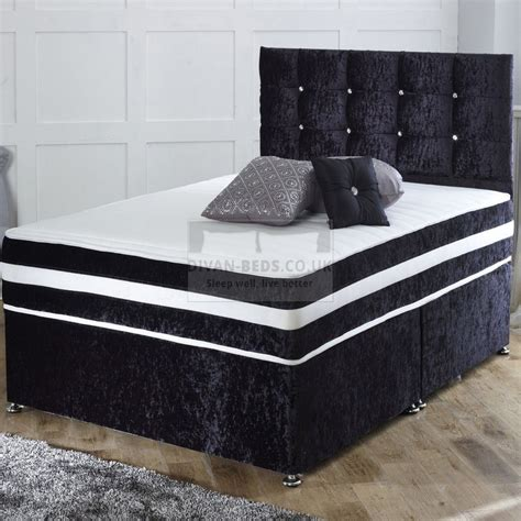 divan beds richard crushed velvet divan bed with orthopaedic