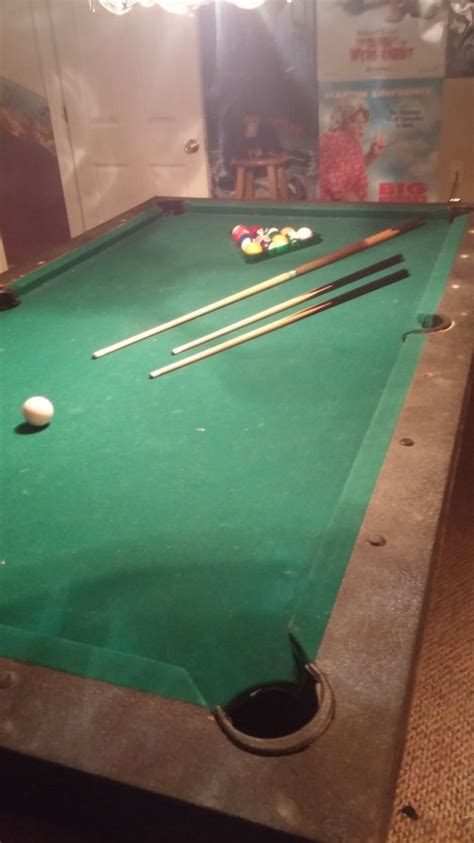 regulation size pool table regulation size pool table with cues and balls