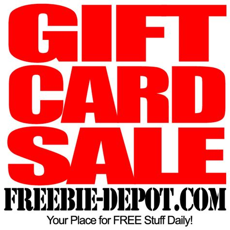 Sale Gift Cards - gift card sale freebie depot