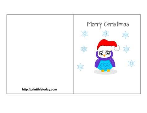 merry card template owl printable stationery bookmarks