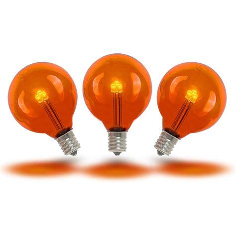 Led Light Bulbs Buy Buy Orange Led G40 Glass Globe Light Bulbs Novelty