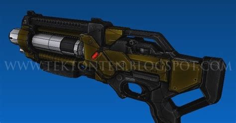 Mass Effect Papercraft - mass effect m 11 shotgun papercraft jpg