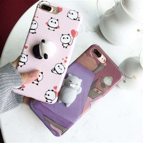 Softcase Squishy Squeeze Rabbit Soft Cover Casing Iphone 6 6s aliexpress buy for iphone 7 8 6 6s plus squishy 3d squeeze cat polar seal