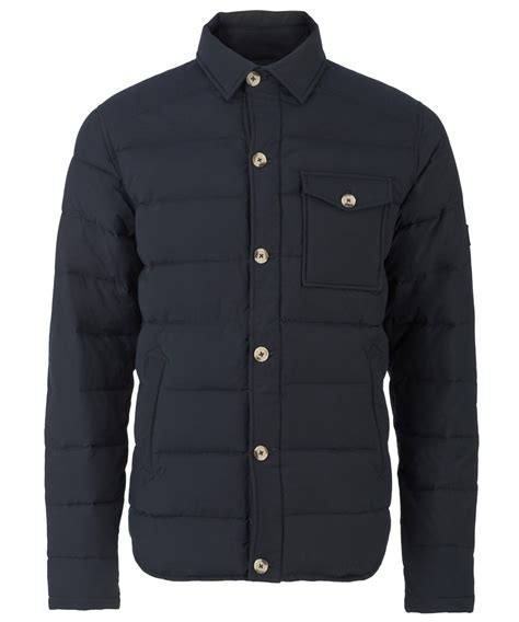 Penfield Quilted Jacket by Penfield Eska Quilted Overshirt Jacket In Blue For