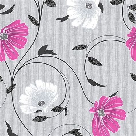Decorating With Grey Walls pink and grey floral wallpaper beautiful pink decoration