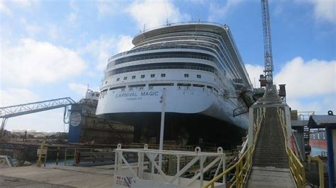 cruises in dry dock new carnival magic dry dock photos