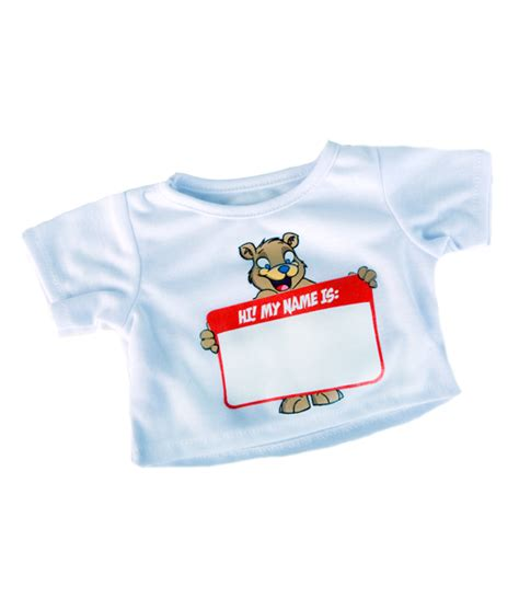 personalised teddy t shirt great for make at home bears