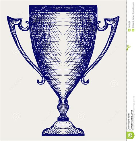 doodle trophies award trophies royalty free stock photos image 28253458