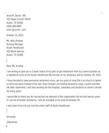 Retirement Resignation Letter Exles by Sle Retirement Resignation Letter 6 Exles In Pdf Word
