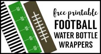Football water bottle labels free printable paper trail