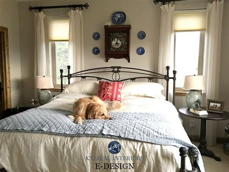 bedroom colors with wood trim sherwin williams accessible beige in a country farmhouse