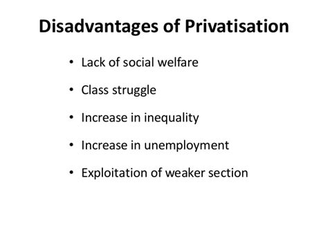 disadvantaged sections of society privatisation and disinvestment