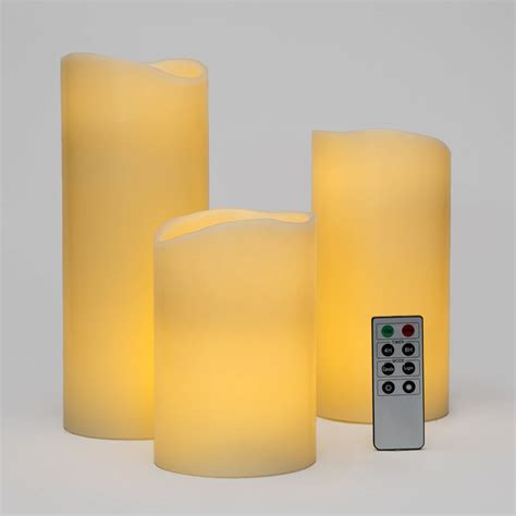 Large Flameless Candles With Remote lights flameless candles pillar candles