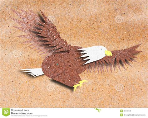 Bald Eagle Papercraft - eagle recycle paper craft royalty free stock image image