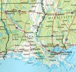 Texas Louisiana Map by Louisiana Reference Map