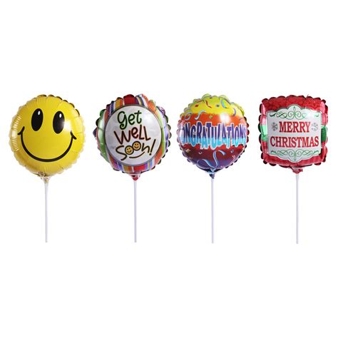 Small Balloon Foil Balon Foil Bintang 9 mylar foil balloons on sticks fruiquet
